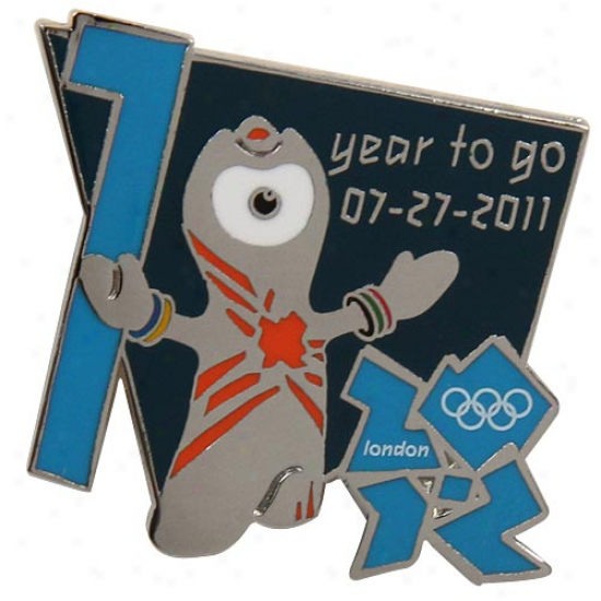 London 2012 Summer Olympics Wenlock 1 Year To Go Pin