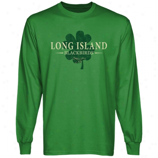 Long Island Blackbirds St. Paddy's Long Sleeve T-shirt - Green