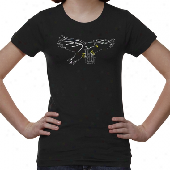 Long Island Blackbirds Youth Distressed Primary T-shirt - Black -