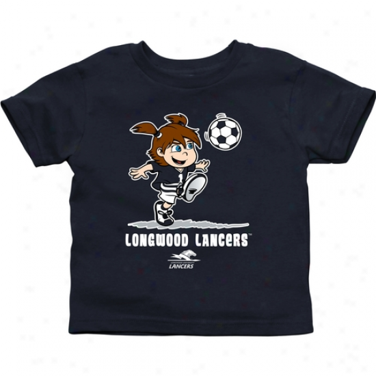 Longwood Lancers Toddler Girls Soccer T-shirt - Navy Blue
