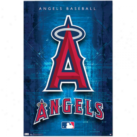 Los Angeles Angels Of Anaheim 22'' X 34'' Logo Poster
