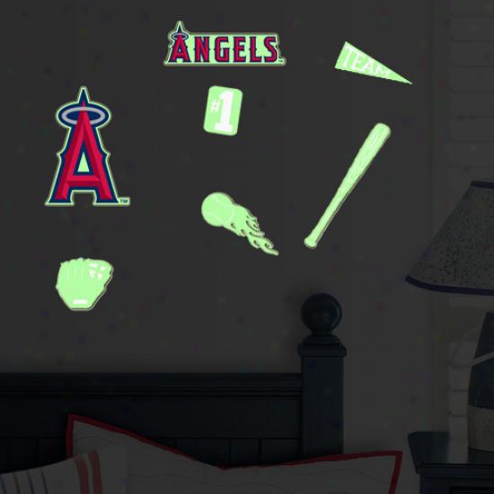 Los Angeles Angels Of Anaheim Lil' Buddy Team Glow Sticekr Kit