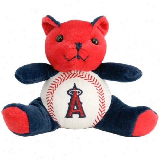 Los Angeles Angels Of Anaheim Plush Cheering Baseball Bear
