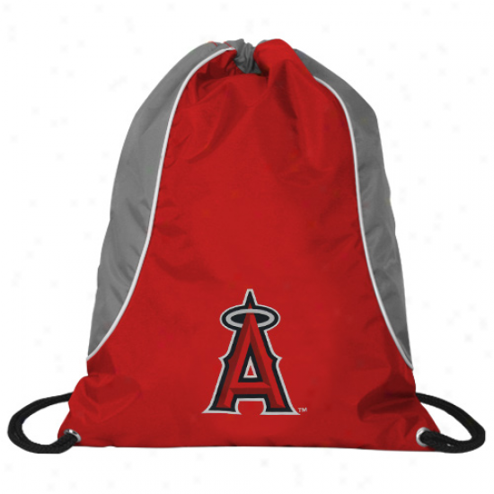 Los Angeies Angels Of Anaheim Red-gray Axis Drawstring Backpack