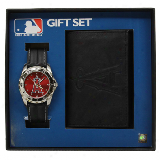 Los Angeles Angels Of Anaheim Watch & Wallet Gift Set