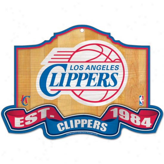Los Angeles Clippers 15.5'' X 10.5'' Established Wood Sign