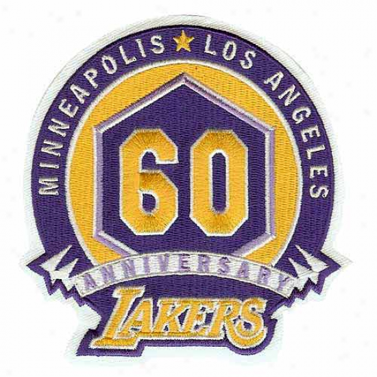Los Angeles Lakers 60th Anniversary Collectible Logo Patch
