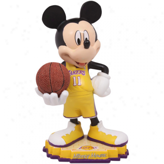 Los Angeles Lakers 8'' Mickey Mouse Figurine