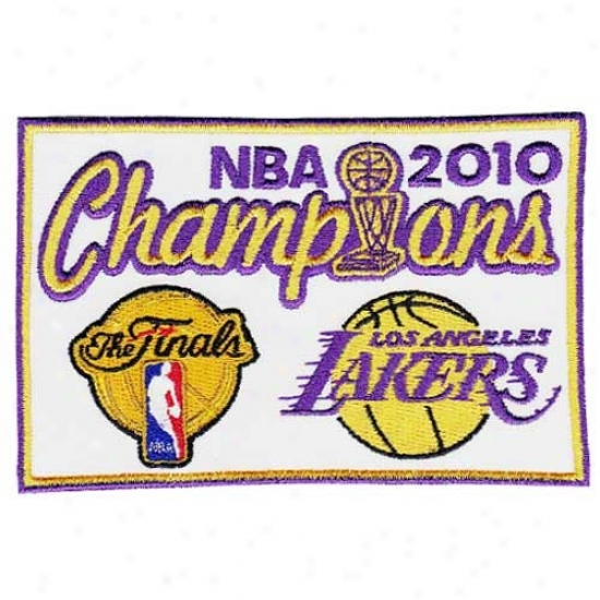 Los Angeles Lakers Embroidere 2010 Nba Champions Collectible Patcg