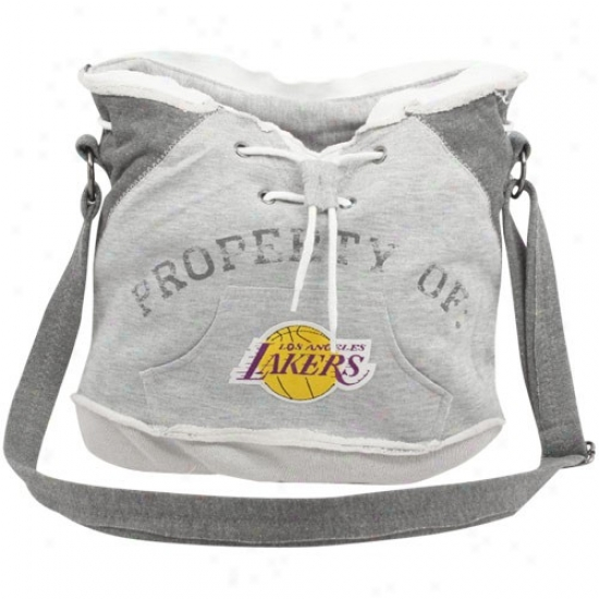 Los Angeles Lakers Ladies Ash Hoodie Duffel Bag