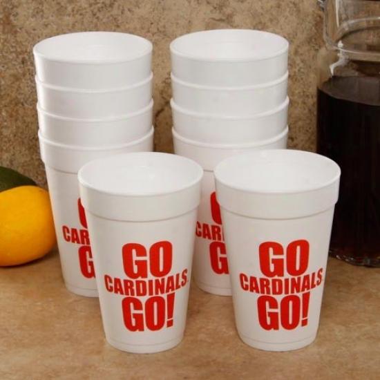 Louisville Cardinals 10-pack 16oz. Team Slogan Foam Cups