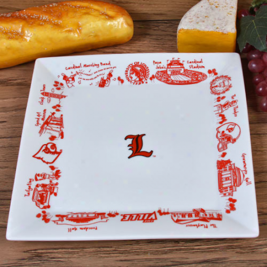Louisville Cardinals Large Square Platter