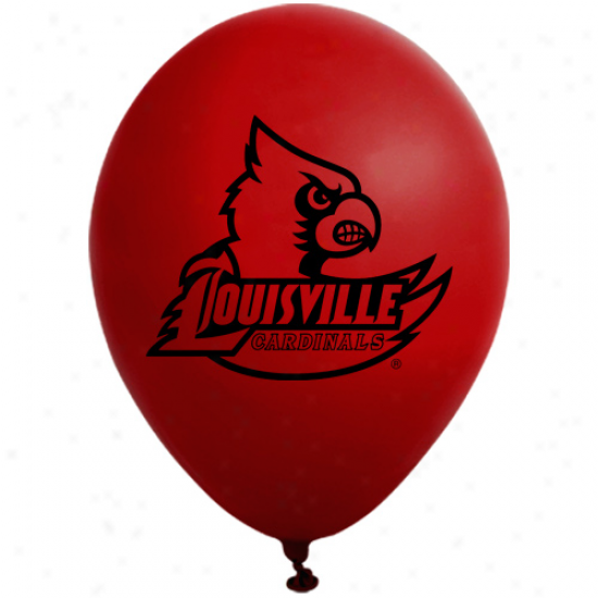 Louisville Cardinals Rex 10-pack 11'' Round Late xParty Balloons