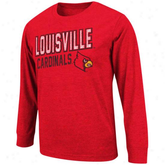Louisville Cardinals Youth Hedgehog Long Sleeve T-shirt - Red