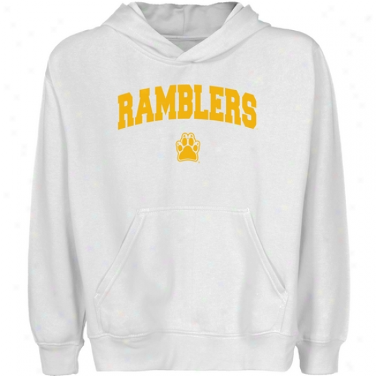 Loyola Chicago Ramblers Youth White Logo Arch Pullover Hoody