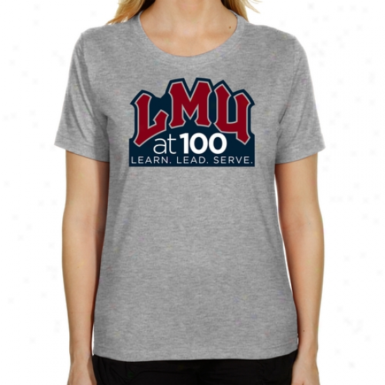 Loyola Marymount Lions Ladies At 100 Classic Fit T-shirt - Ash