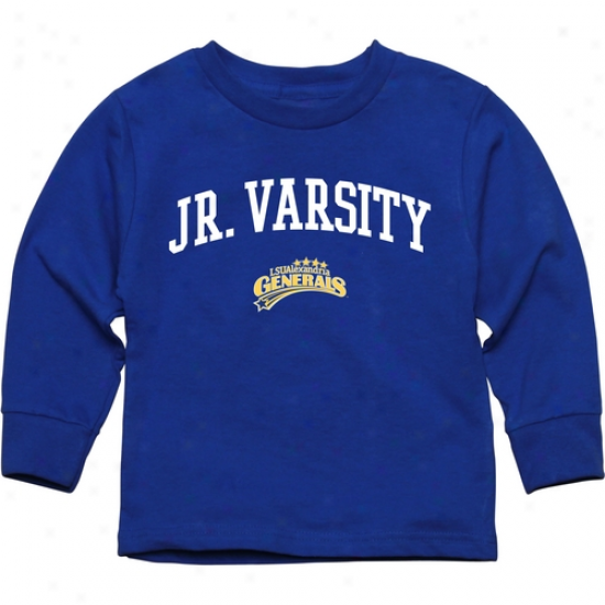 Lsu Alexandria Generals Toddler Jr. Varsity Long Sleeve T-shirt - Royal Blie