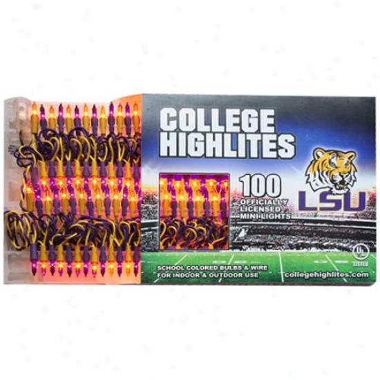 Lsu Tigers 100-ct. Team Color Mini Lights