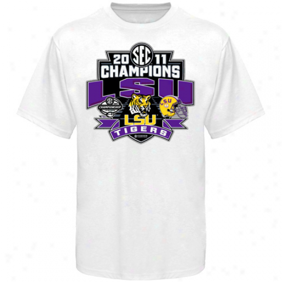 Lsu Tigers 2011 Sec Football Champions Locker Room T-shirt - White