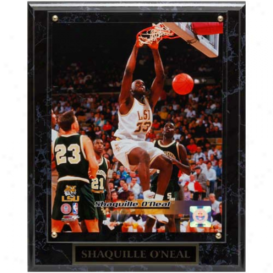 Lsu Tigers #33 Shaquille O'neal 10.5'' X 13'' Player Plaque