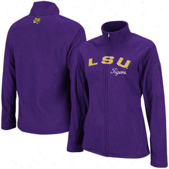 Lsu Tigers Ladies Purple Polar Full Zip Fleece Jacket