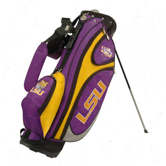 Lsu Tigers Purple-gold Gridiron Stand Golf Bag