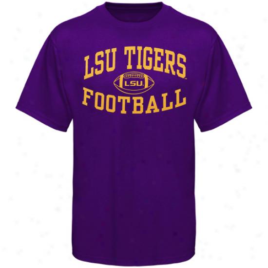 Lsu Tigers Reversal Football T-shirt - Purple