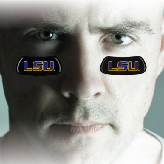 Lsu Tigers Team Logo Eyeblack Strips
