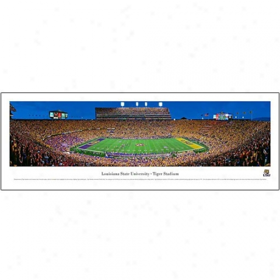 Lsu Tigers Tiger Stadium 13.5 '' X 40'' Panoramic Print