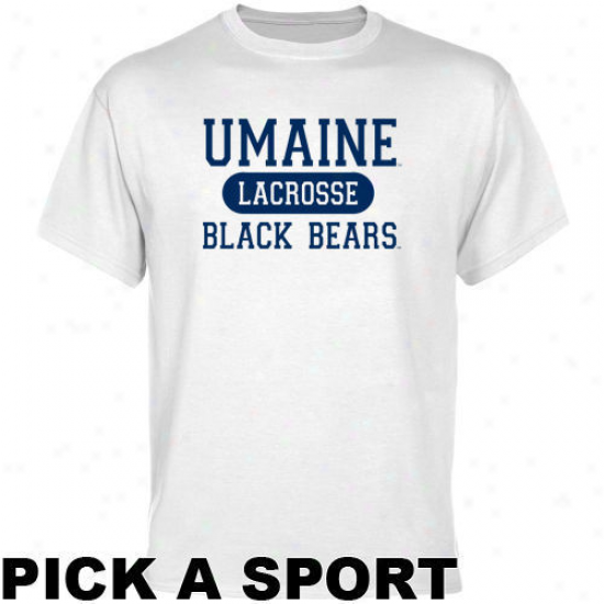 Maine Black Bears White Custom Sport T-shirt -