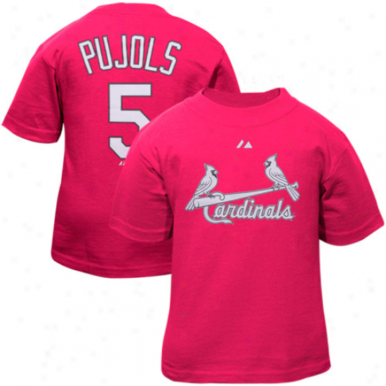 Majestic Albert Pujols St. Louis Cardinals #5 Toddler Player T-shirt - Pink