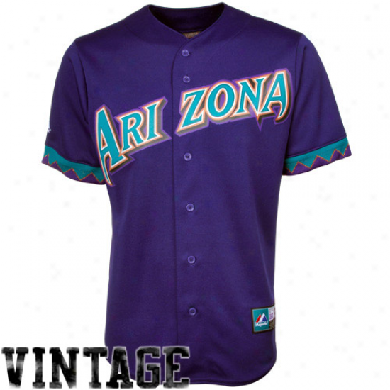 Majestic Arizona Diamondbacks Cooperstown Throwback Jsrsey - Purple