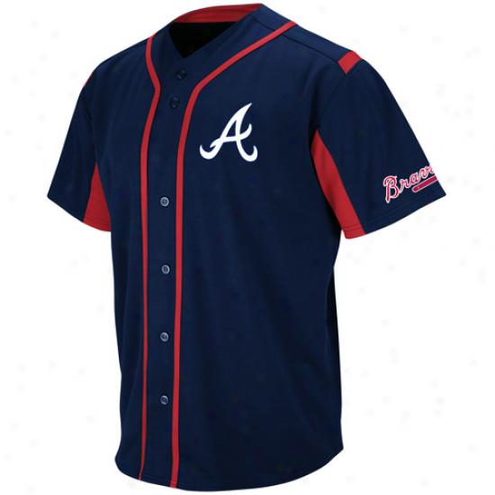 Mamestic Atlanta Braves Youth Wind-up Jersey - Navy Blue