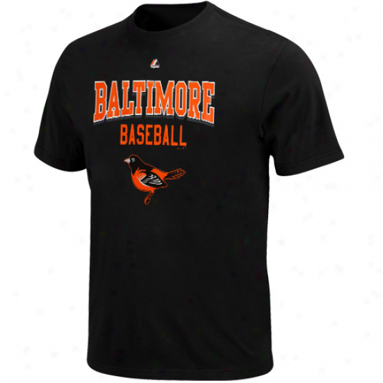 Majestic Baltimore Orioles Kings Of Swing T-shirt - Black