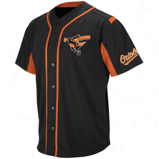 Majestic Baltimore Orioles Wind-up Jersey - Black