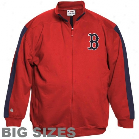 Majestic Boston Red Sox Red Tracker Bib Sizes Full Zip Jacket