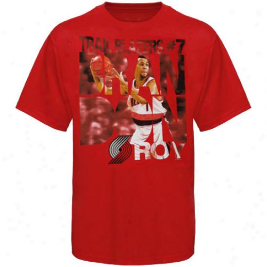 Majestic Brandon Roy Portland Trail Blazers #7 Slamma Jamma Player T-shirt - Red