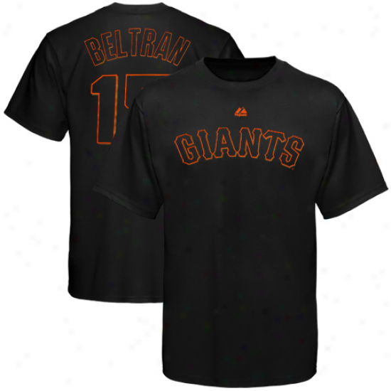 Majestci Carlos Beltran San Francisco Giants Youth Name & Number T-shirt - Black