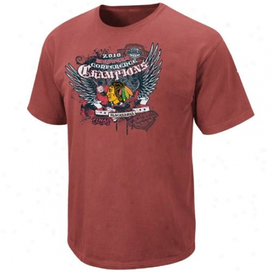 Majestic Chicago Blackhawks Brick 2010 Nhl Westerly Conference Champions Ultimate Champions Pigmeng Dywd T-shirt
