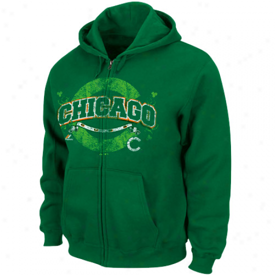 Majestic Chicago Cubs Unripe Is In Full Zip Hoodie - Green