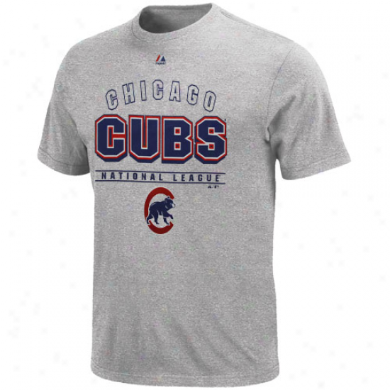 Majestic Chicago Cubs Opposing T-shirt - Ash