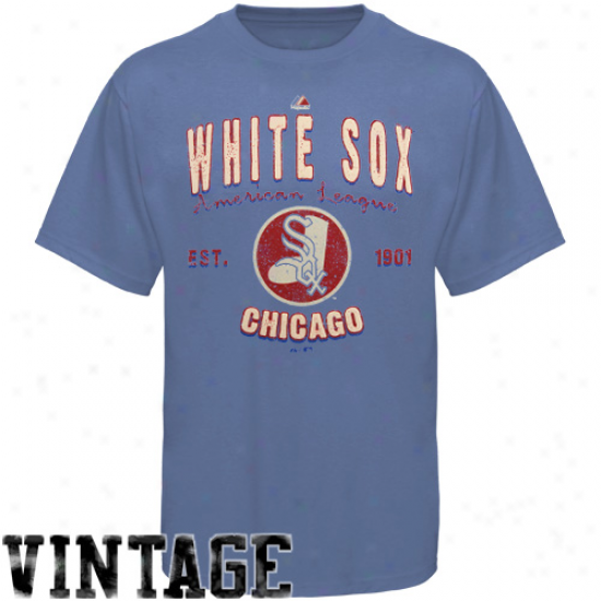Majstic Chicago White Sox Cooperstown Barney T-shirt - Light Blue