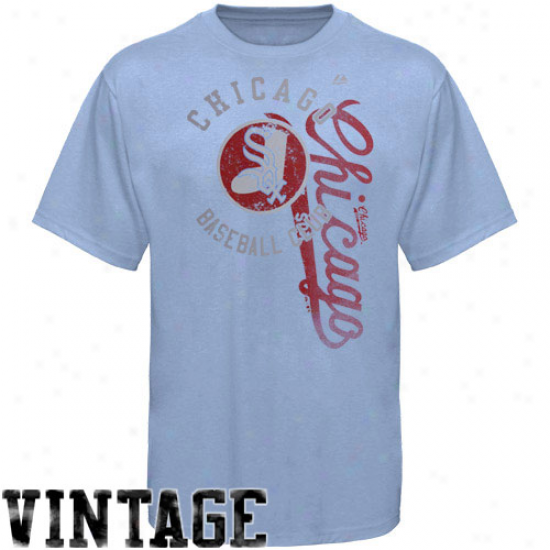 Majestic Chicago White Sox Robust Rookie Vintage T-shirt - Light Blue