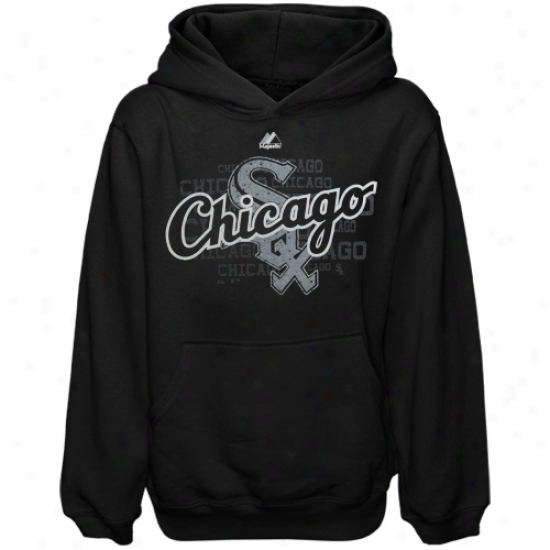 Majestic Chicago Pale Sox Boy Game Day Ardor Hoodie - Black