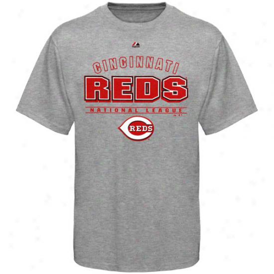 Majestic Cincinnati Redss Opponent T-shirt - Ash