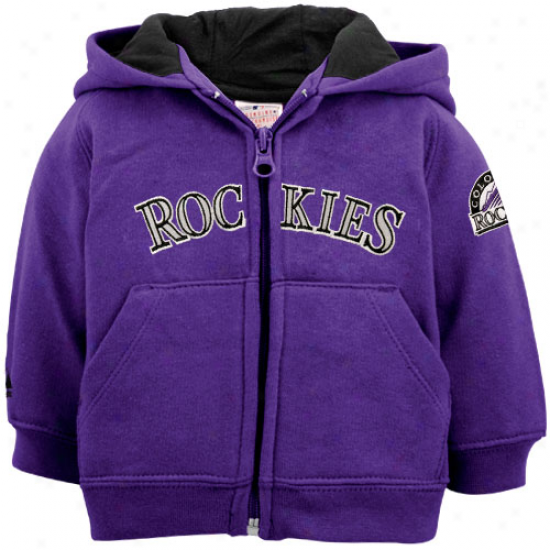 Majestic Colorado Rockies Newborn Purple Full Zip Hoodie Sweatshirt -