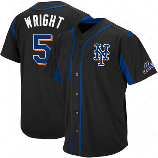 Majestic David Wright New York Mets Wind--up Jersey - Black