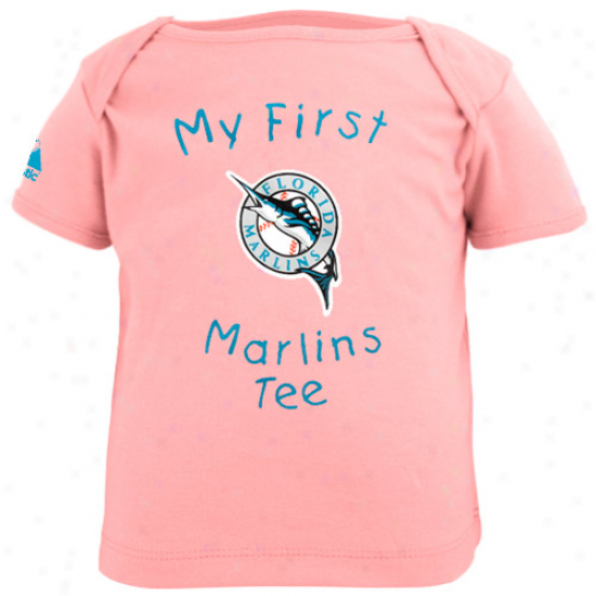 Majestic Florida Marlins Infant Girls Pink My First Tee T-shirt