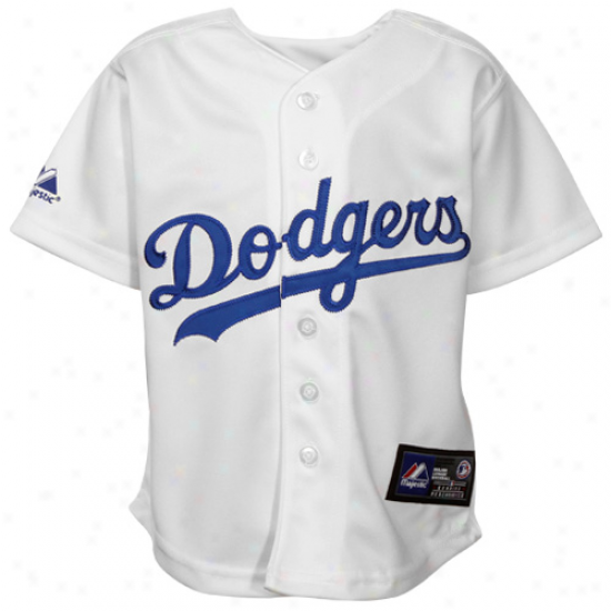 Majestic L.a. Dodgers Infant Replica Jersey - White