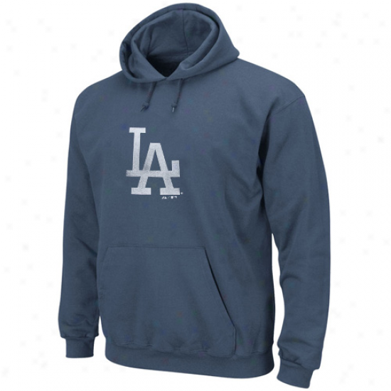 Majestic L.a. Dodgers Royal Blue Big Time Play Hoodie Sweatshirt